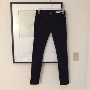 Rag & Bone Black Capri Skinny Jeans